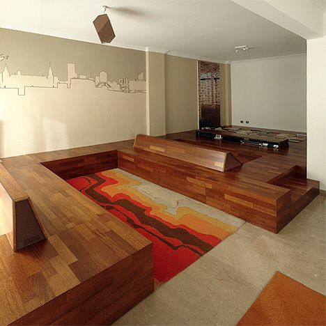 Raised Floor With Seating And Storage | Architecture | Pinterest | Raising,  Storage And Small Living