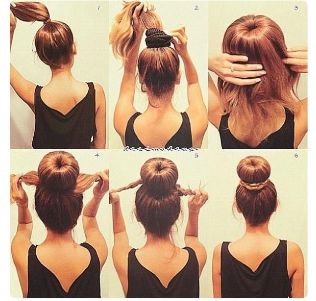 This Is Literally The Best Sock Bun Tutorial I Have Ever Done The Bun Is Tight And Stays Up All Day I Sp Hair Braid Bun Tutorial Hair Styles Long Hair