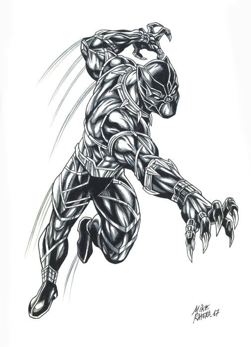 Black Panther By Mike Ratera - Original Drawing - W.B. | coloring ...