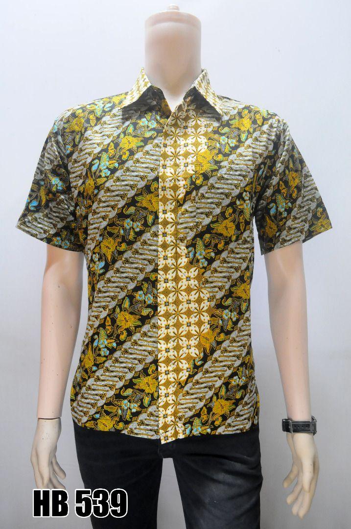 Grosir Batik Terlaris Kemeja Batik Pria Lengan Pendek Kombinasi