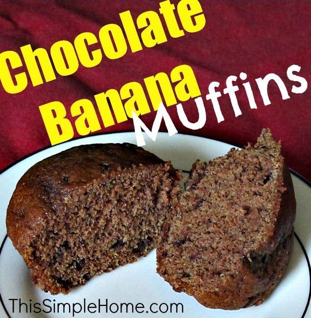 This Simple Home: Chocolate Hazelnut Banana Muffin Recipe