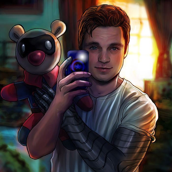 Bucky And His Bear By Petite Madame Bucky Stuffies Never Not Repinning And Dawww Little