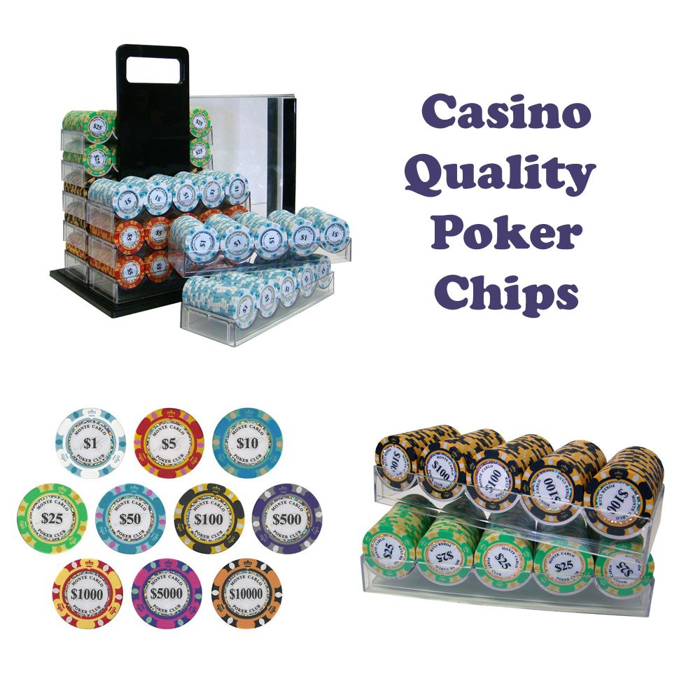 High Quality Poker Chips - Monte Carlo | Everything Poker Gaming ...