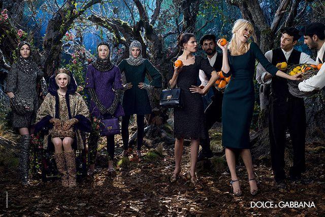 Claudia Schiffer in Dolce & Gabbana Fall/Winter 2014-15 Ad Campaign