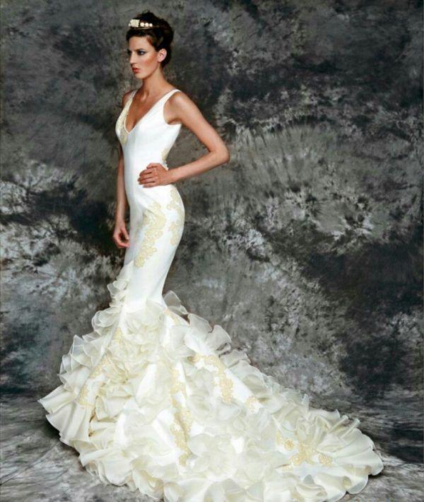 Vestido novia gitana blanco