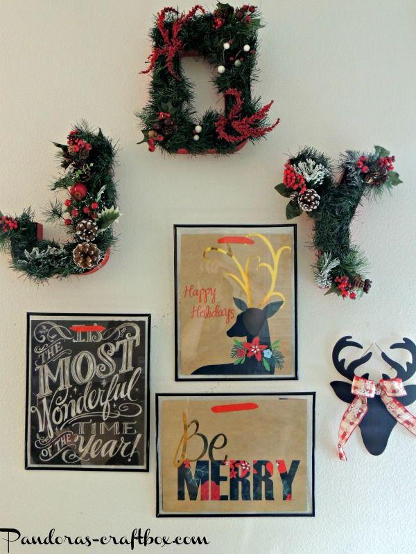 Christmas decor, christmas crafts, christmas gift bags, holiday ...