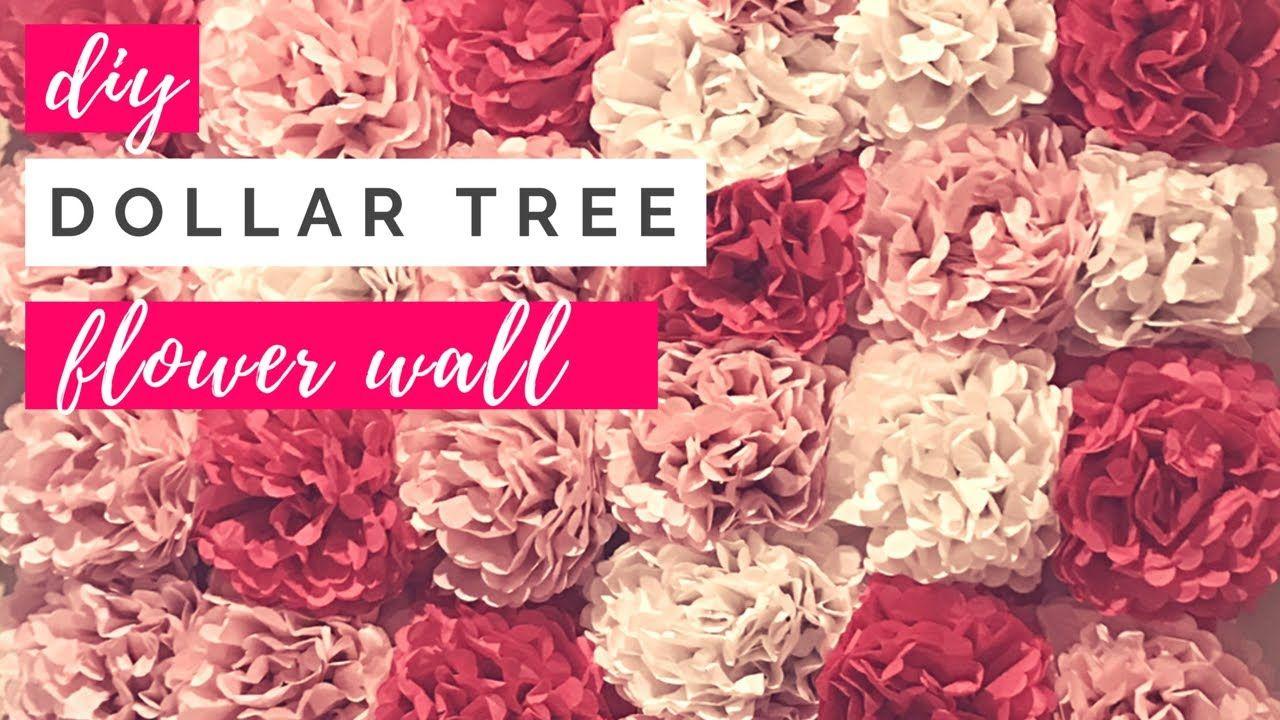 Diy dollar tree tissue paper flower wall diy wedding