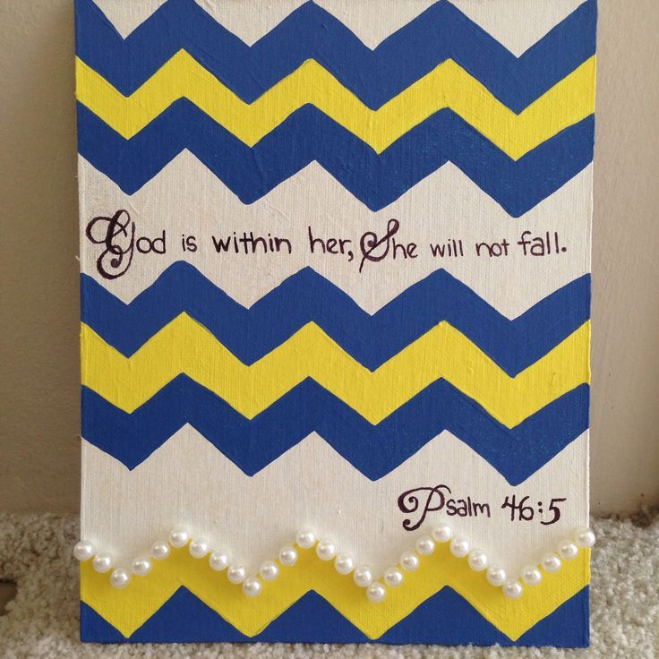 DIY Chevron Canvas And Bible Verse
