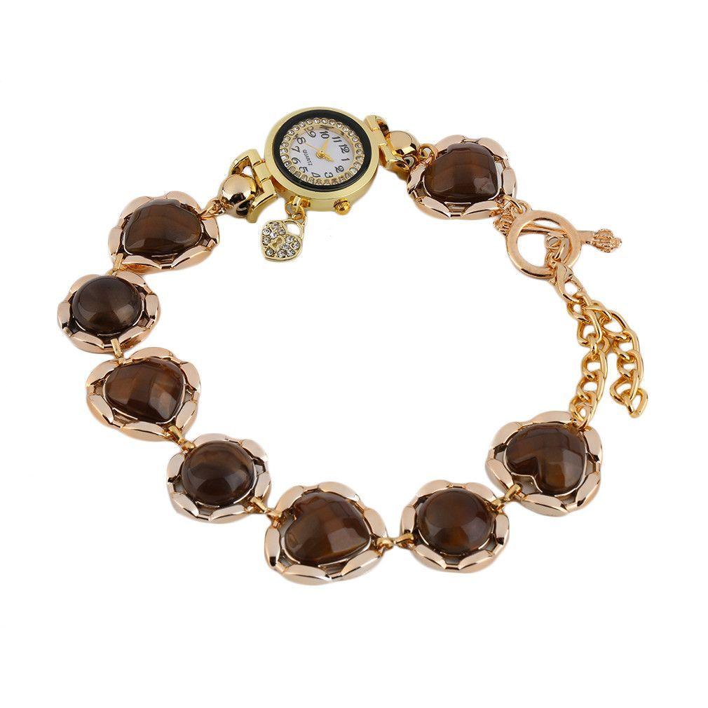 Sapphire nice winding bracelet heart rhinestone watch bracelet watch