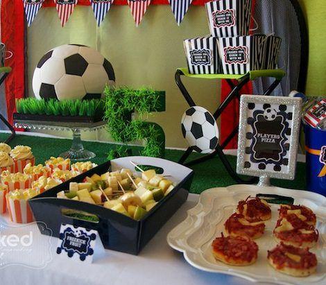 Ideas para la decoraci n de una fiesta de cumplea os de f tbol para ni os decoraci n fiestas - Decoracion para cumpleanos de ninos ...