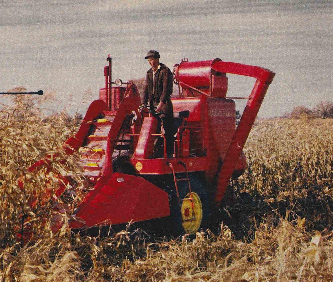 Cartoon Tractor Corn Picker : Massey harris corn picker vintage combines pinterest