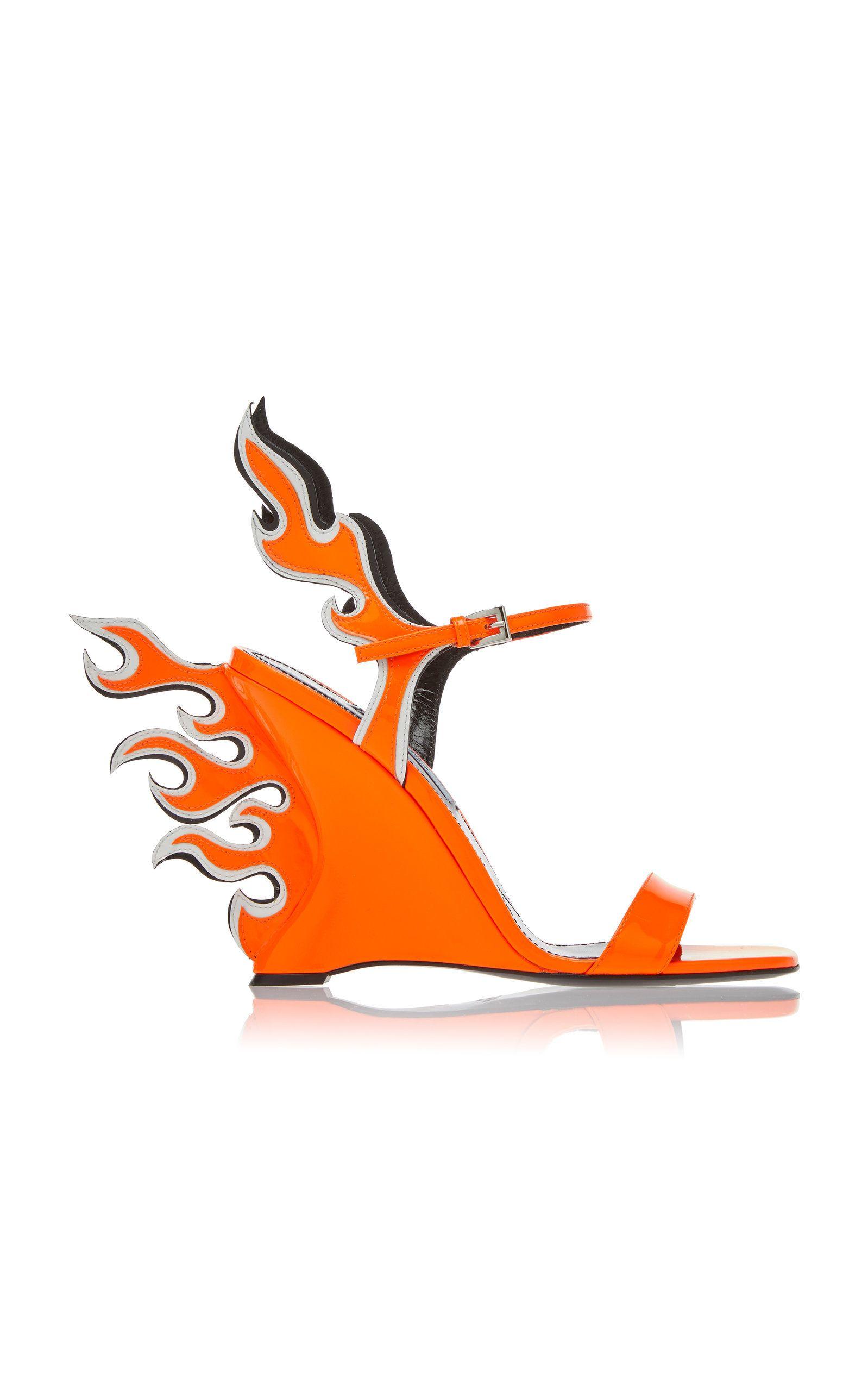 2387fc56508 Prada Flame Sandal | eccentric shoes in 2019 | Prada shoes, Prada ...