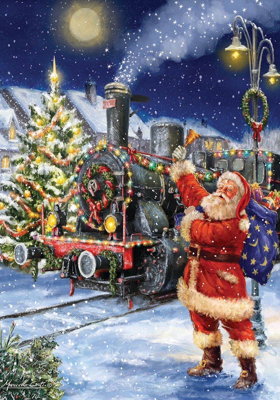$12.99 - Polar Express Christmas House Flag Santa Claus Train 28