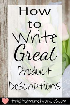 Write Product Descriptions Business Ideas Etsy Business Craft