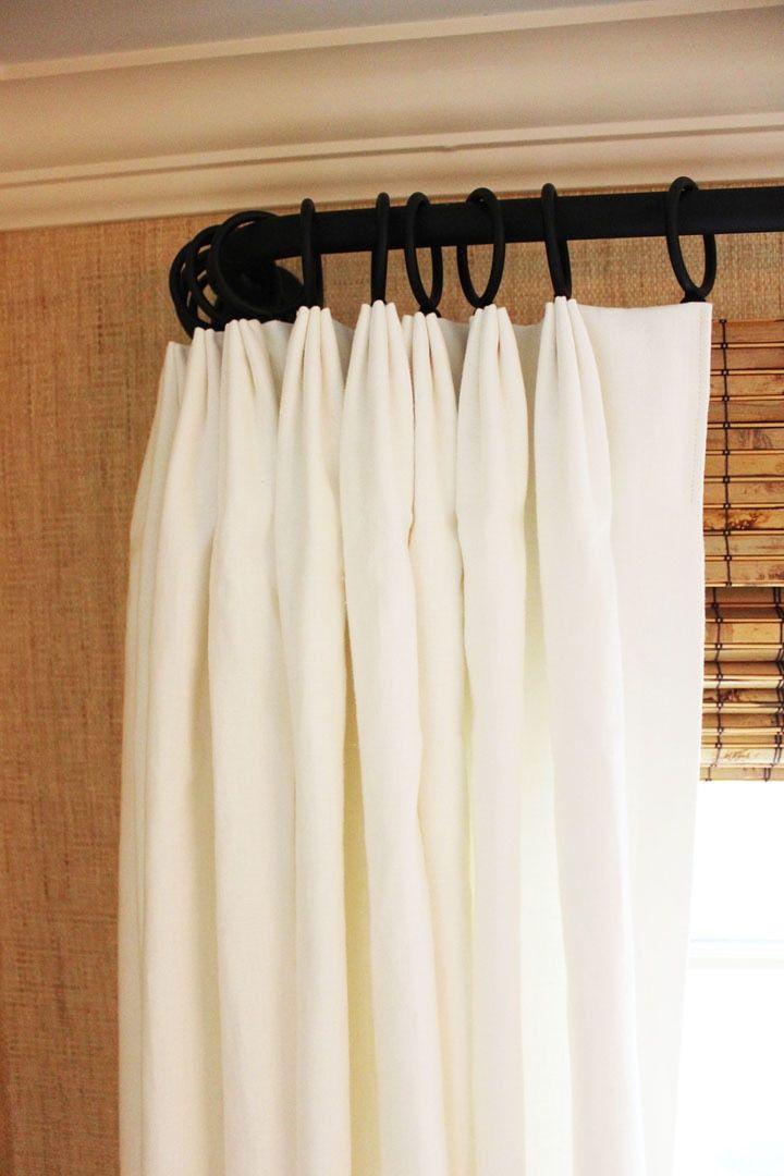 Robert Allen Milan Solid Linen Custom Drapes Pleated