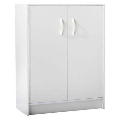 2 Door Stackable Storage Cabinet White Room Essentials White
