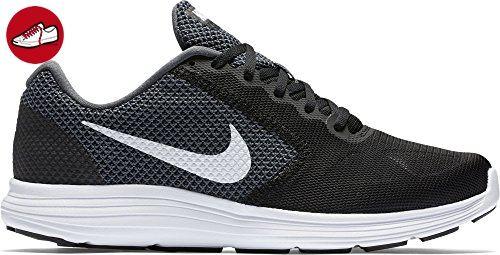 Nike Herren Revolution Laufschuhe, Schwarz (Dark Grey/White-Black 001),
