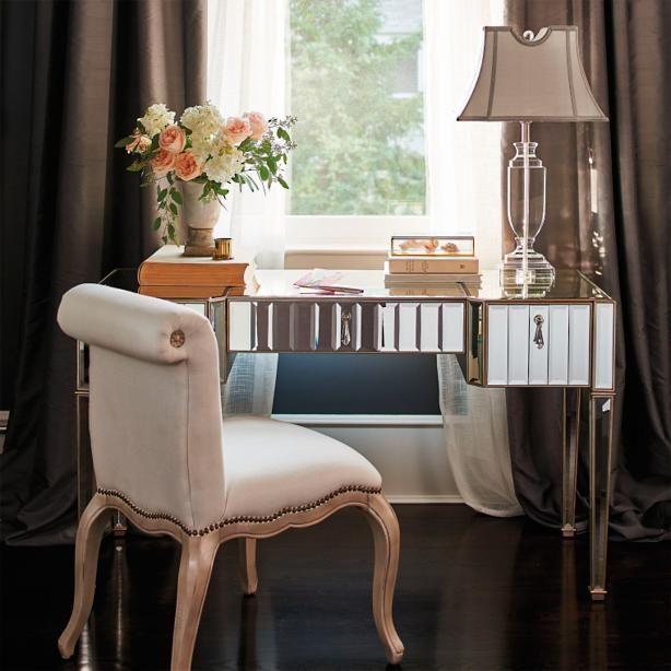 Sloane Beveled Mirrored Desk In 2019