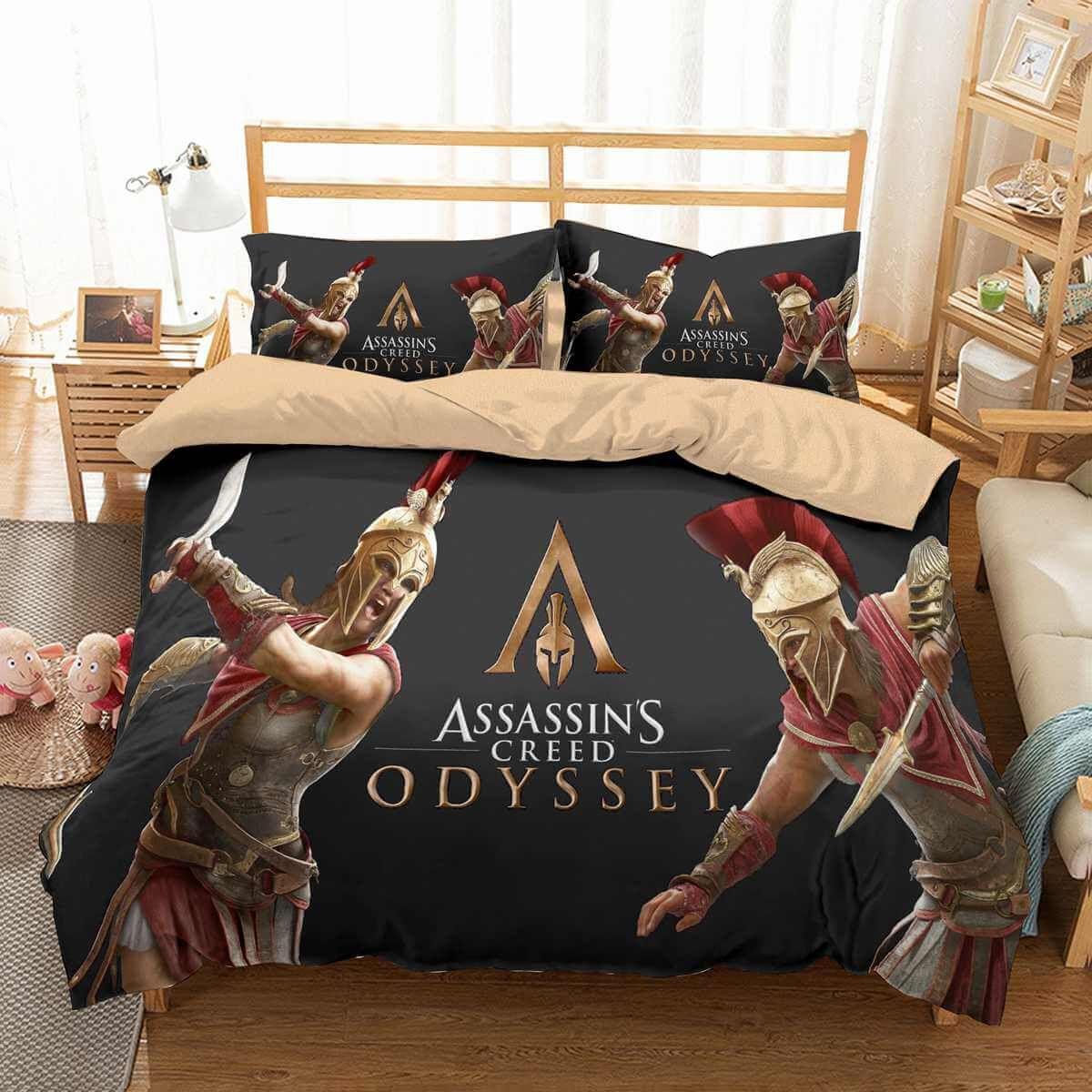 3d Customize Assassin S Creed Odyssey Bedding Set Duvet Cover Set Bedroom Set Bedlinen Duvet