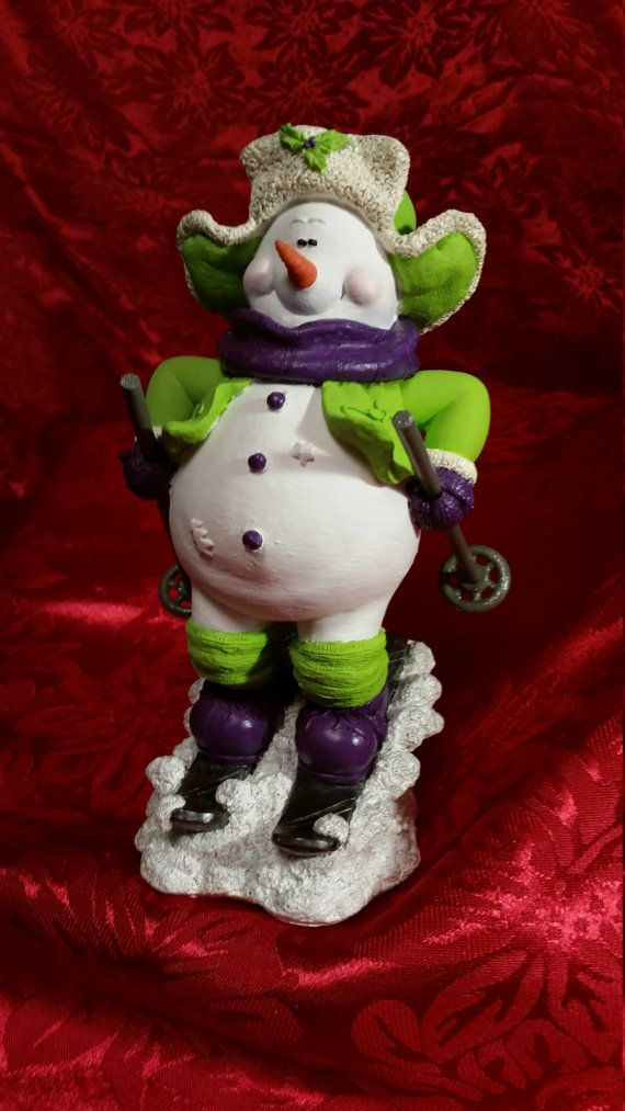 Neon Ski-ing Snowman