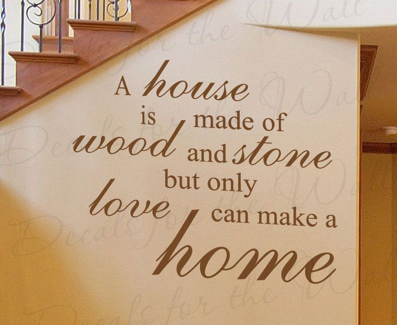 Attractive A House Made Wood And Stone Home Family Love Wall Decal Adhesive Vinyl  Quote Saying Lettering Decoration Sticker Decor Art F42