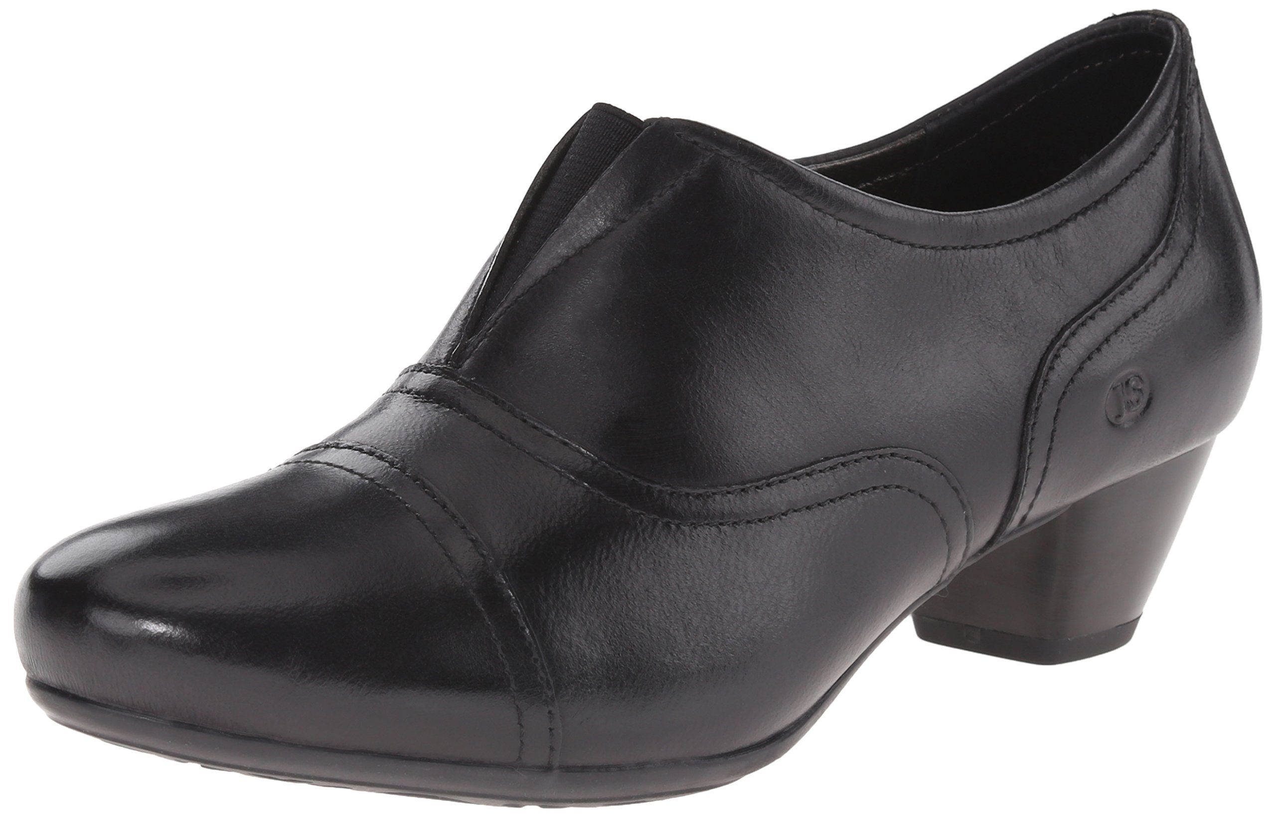 Josef Seibel Women's Amy 35 Dress Pump, Black, 40 BR/9-9.5 M US. Premium full grain leather. Flexible outsole with stacked heel. Stitched upper for stylish detail. Light weight for all day comfort. European comfort and style.