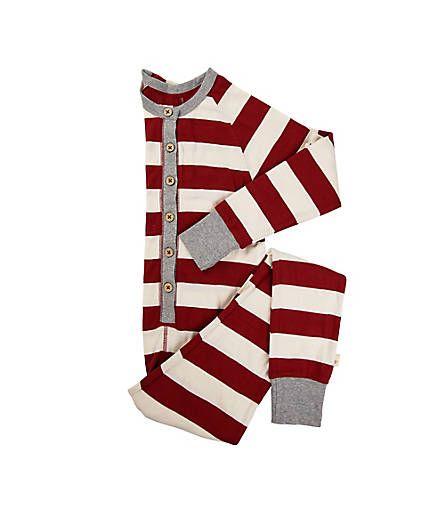 e24245827967 Big Kids Organic Rugby Stripe Holiday Onesie - Burts Bees Baby   PBK ...