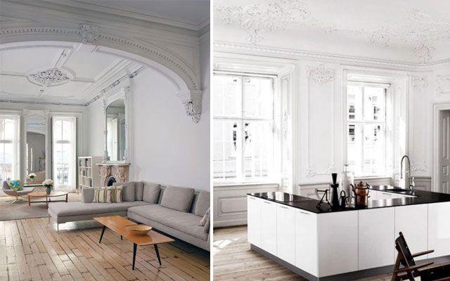 Decofilia blog rosetones y molduras de techo cl sicas for Casas clasicas modernas