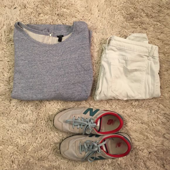 Vintage Blue J.Crew zip sweatshirt This zip back sweatshirt has been worn only a few times and is perfect paired with jeans for a preppier look or thrown on with leggings and a workout tank to go to the gym! J. Crew Tops Sweatshirts & Hoodies