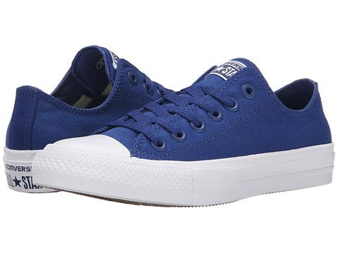ef9fff5f56c085 Converse Chuck Taylor® All Star II Ox Sodalite Blue White Navy - Zappos.com  Free Shipping BOTH Ways
