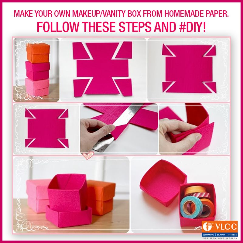 Make your own makeup/vanity box from home made paper