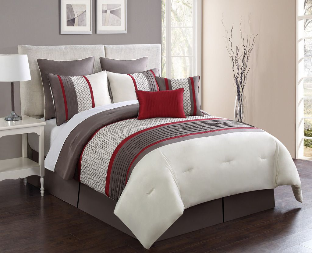 to ideas burgundy ecrins king set red lodge sets put how comforter