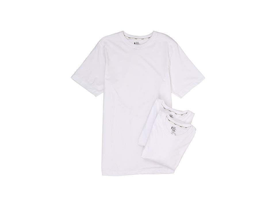 ad467a47 Jockey Cotton Slim Fit Crew Neck T-Shirt 3-Pack (White) Men's T ...
