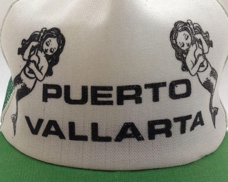 9e628eb3f Vintage Mermaid Trucker Cap Puerto Vallarta Ukulele Snapback Hat ...