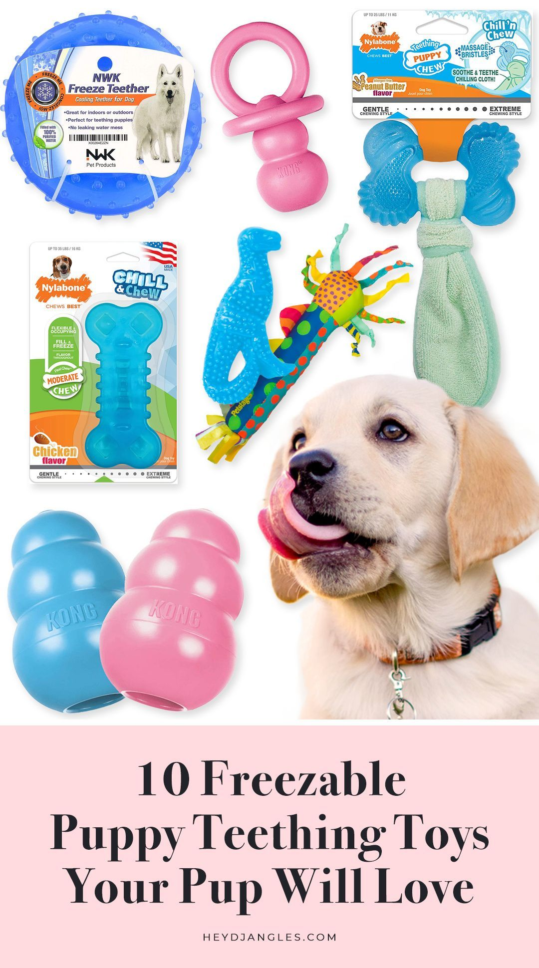 10 Freezable Puppy Teething Toys Your Pup Will Love Puppy Toys Teething Puppy Teething Puppy Chew Toys