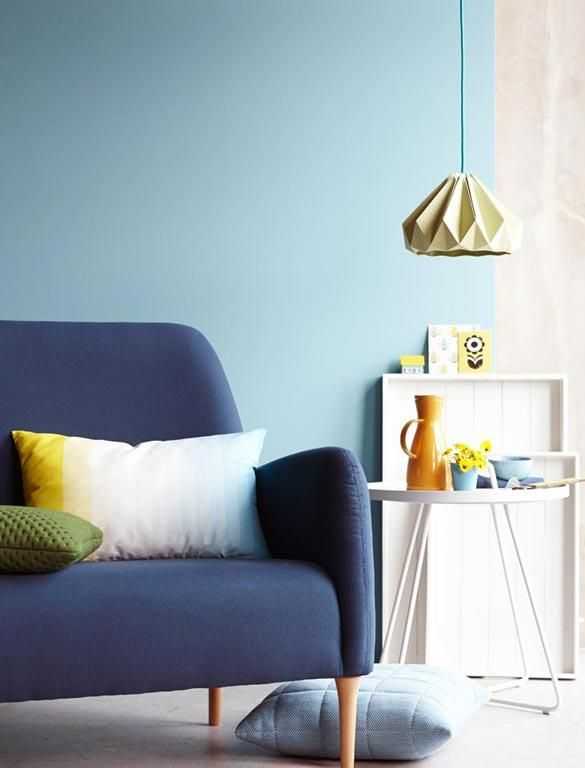 wandfarbe blau sch ner wohnen google search scandinavian pastels wandfarbe farben. Black Bedroom Furniture Sets. Home Design Ideas
