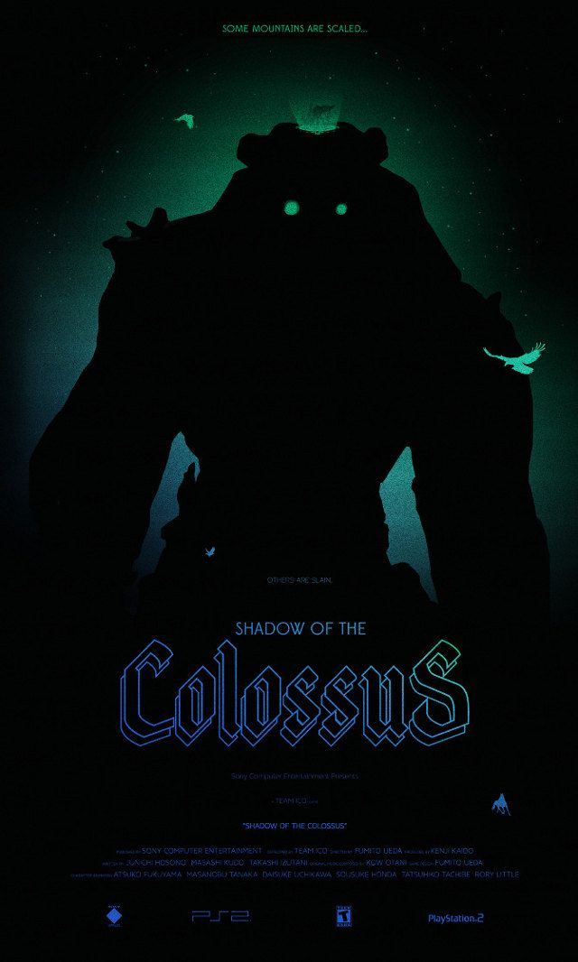 Game posters reimagined - Shadow of the Colossus