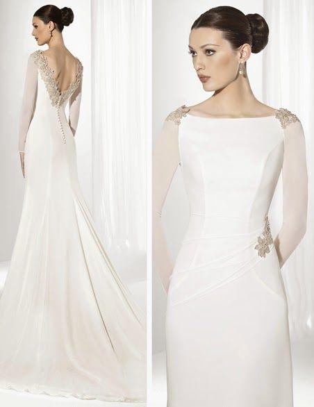 10 vestidos de novia de manga larga: ¡elegantes y con clase! en 2019