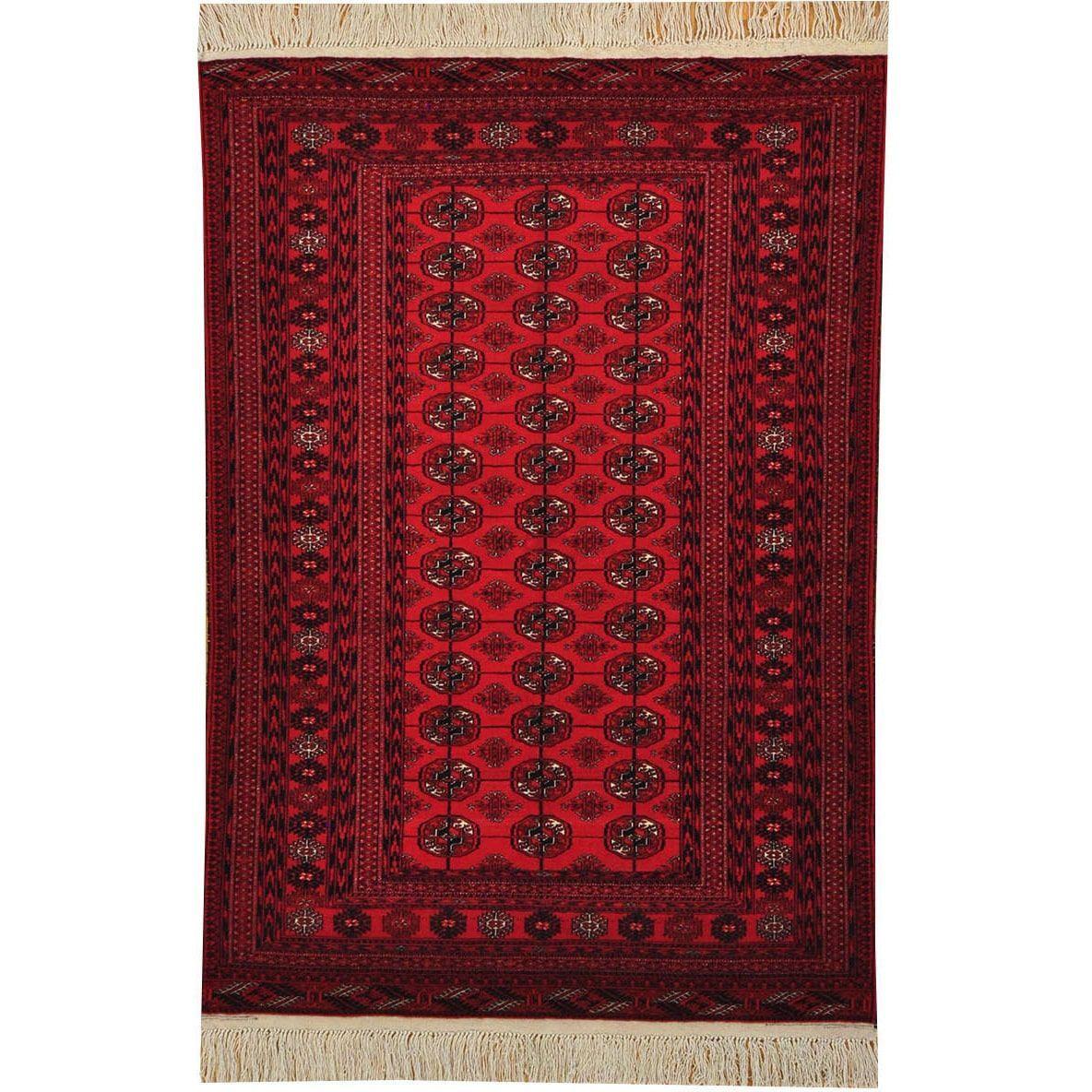 1800getarug Hand-knotted Turkoman Teke Bokhara Oriental Area Rug