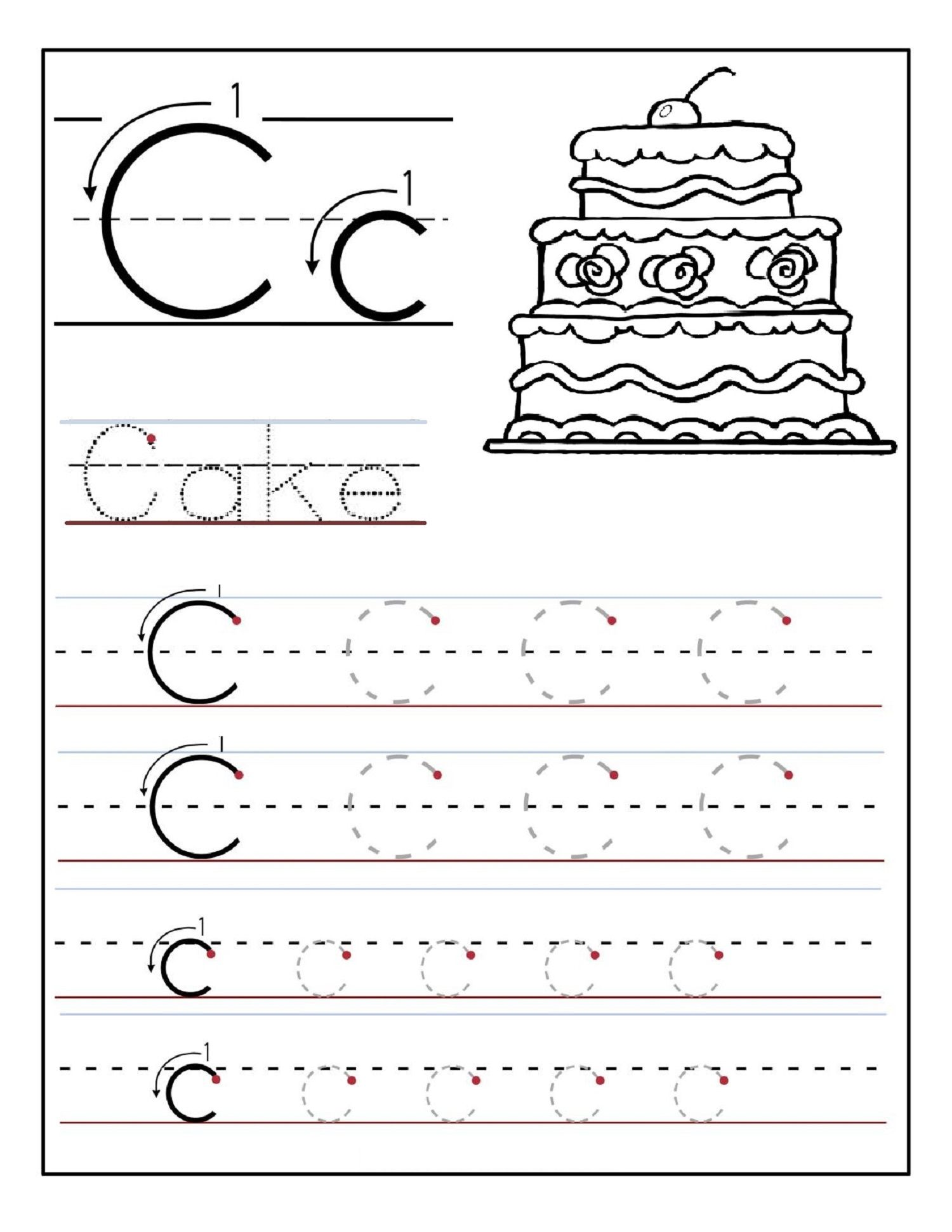 Alphabet Tracing Printables Best for Writing Introduction – Tracing the Alphabet Worksheets for Kindergarten
