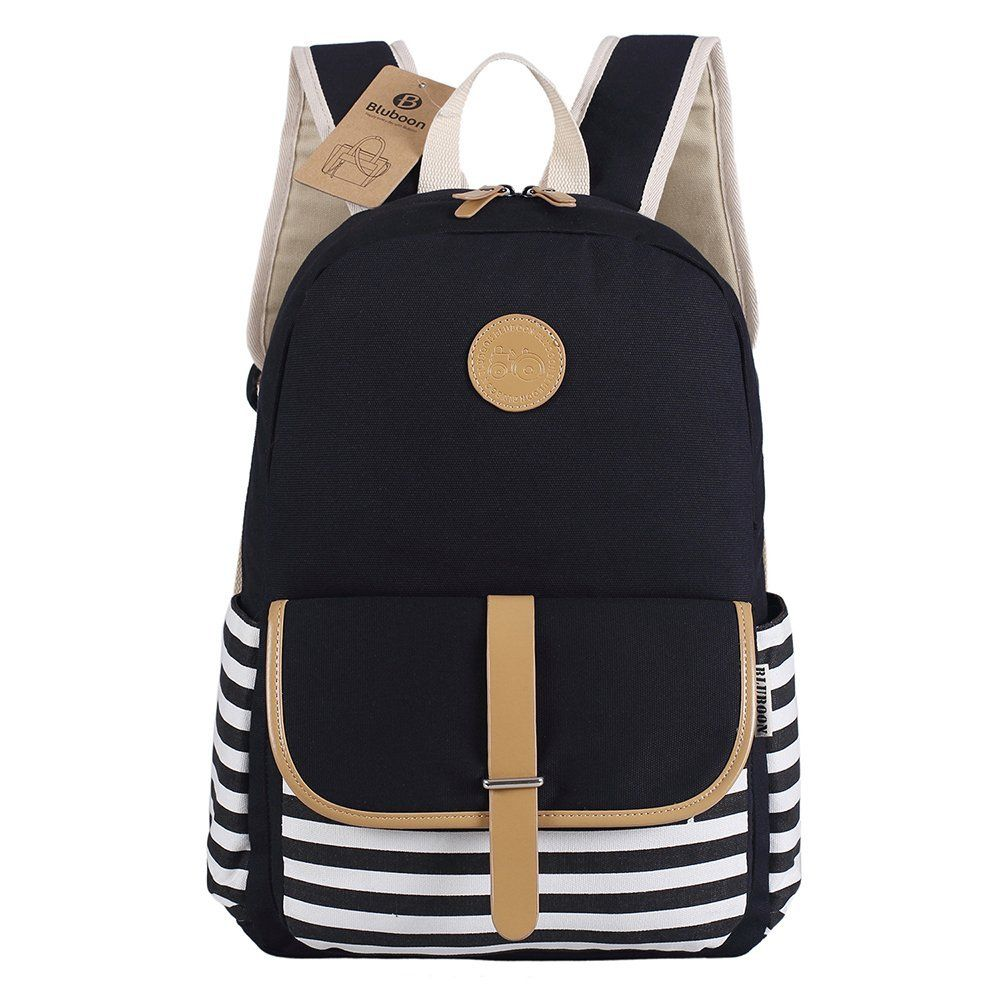 bluboon schulrucks cke rucksack damen m dchen vintage schule rucks cke mit moderner streifen f r. Black Bedroom Furniture Sets. Home Design Ideas