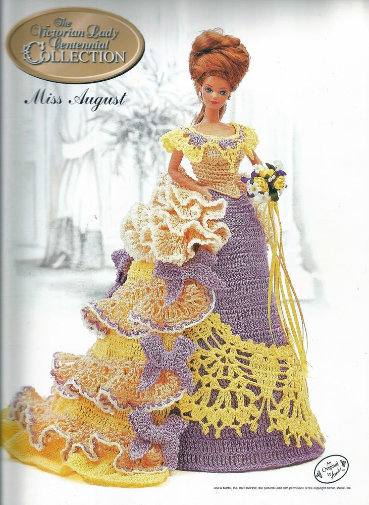 CROCHET * * FOR FASHION DOLLS ~ MISS AUGUST ~ VICTORIAN LADY ...