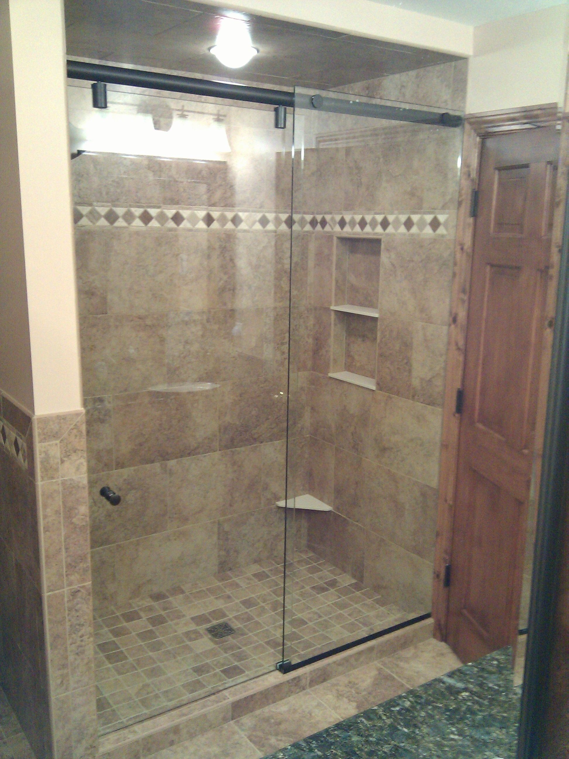 Hydroslide Frameless Sliding Shower Doors | http://sourceabl.com ...