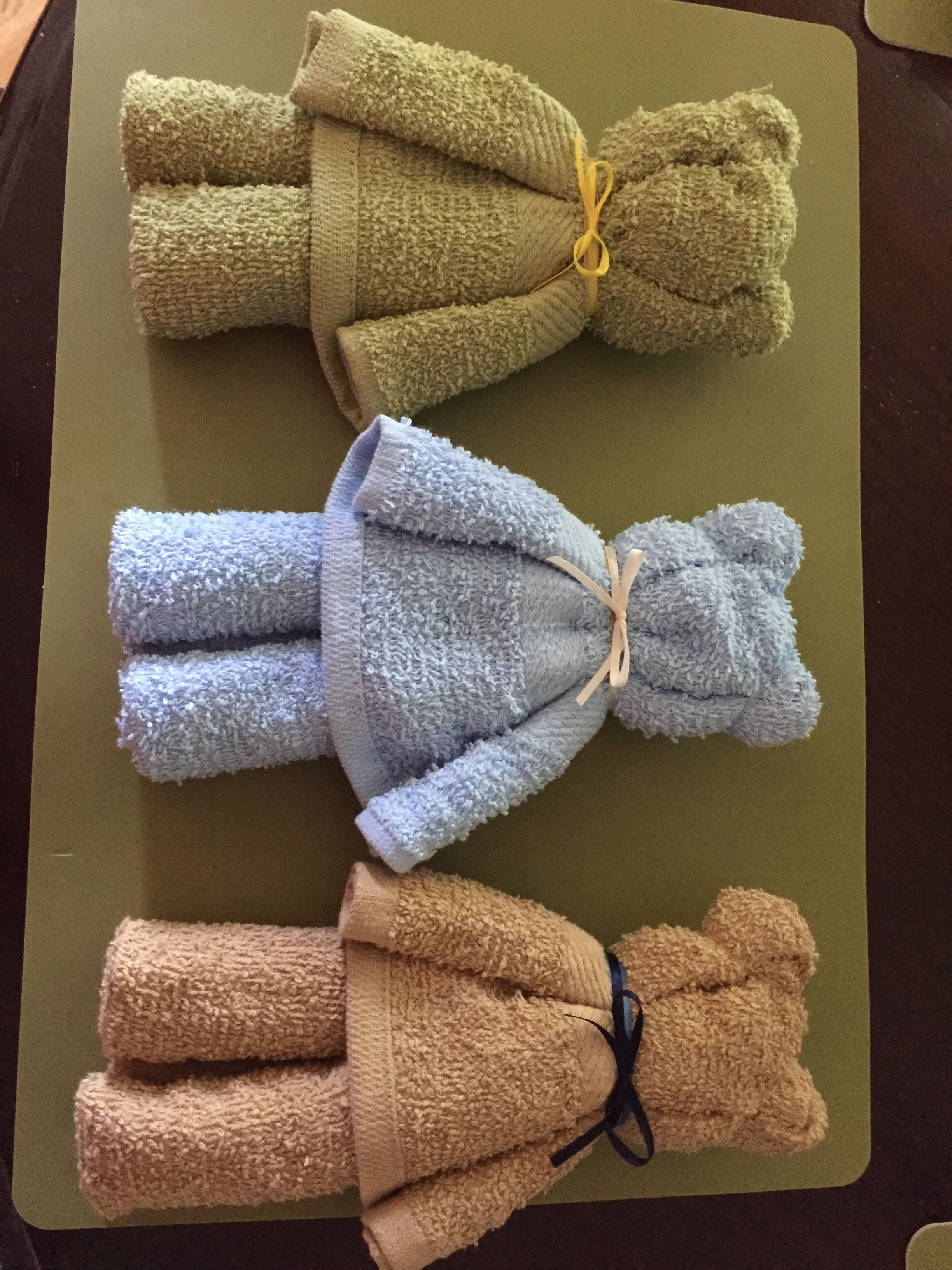 Bears made from dollar tree hand towels. Will put in operation shoebox this year #handtowels