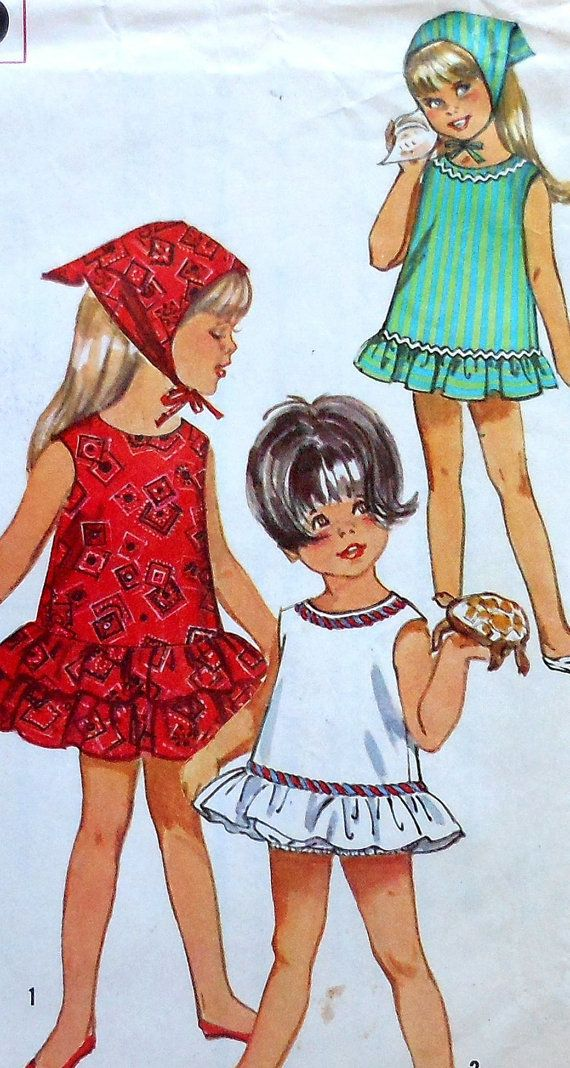 Vintage Dress Sewing Pattern Size 2 Simplicity 5290 beach summer ...