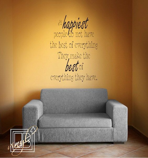 Vinyl Decal Quote The Happiest People - Vinyl Wall Sticker - Vinyl ...
