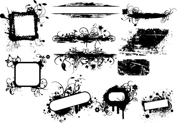 Grunge Banners Brushes, PNG, Vectors and Pictures Photoshop