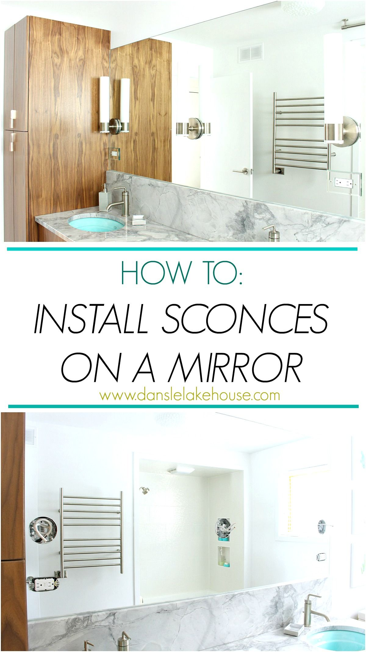 Bathroom Update How To Install Bathroom Sconces On A Mirror