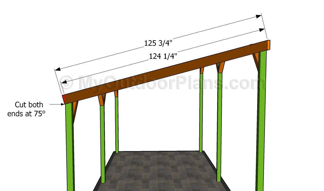 Building the rafters carport pinterest driveways and for Free standing carport plans