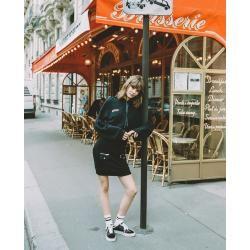 Photo of The Kooples short black sweatshirt style dress – Herrenthekooples.com